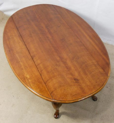 Large Oval Mahogany Dropleaf Coffee Table